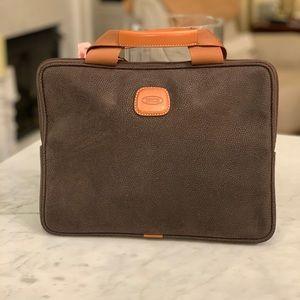 Bric's Brown Leather IPad/lLaptop Bag